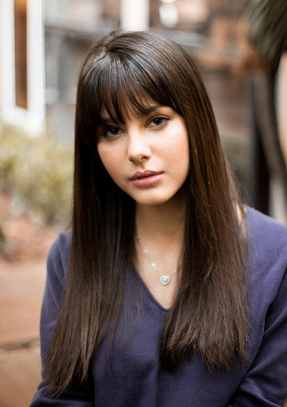 35 Best Bangs For Straight And Long Hairstyle Attireal Com Long Hair Styles Hair Styles Short Hair Updo