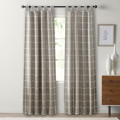 Sonoma Goods For Life 2 Pack Montgomery Plaid Window Curtain