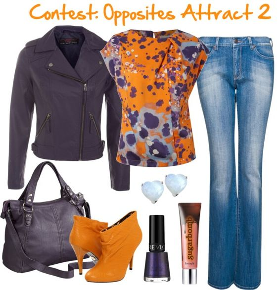 """Contest: Opposites Attract 2"" by riftkind ❤ liked on Polyvore"