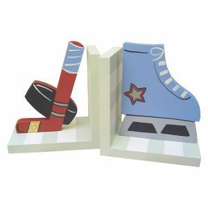This darling set of wooden hand-painted bookends are the perfect addition to your child's room. They are functional and fun for keeping books organized and tidy. Coordinating clocks, frames, lamps and