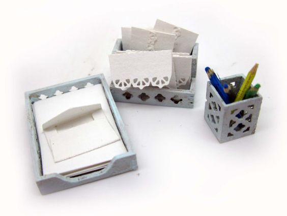 Miniaturas casa de muñecas shabby chic por viliaminiature en Etsy