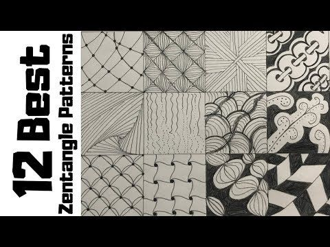 12 Zentangle Patterns For Beginners How To Draw Easy Doodle Art