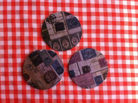 Porta-copos selos