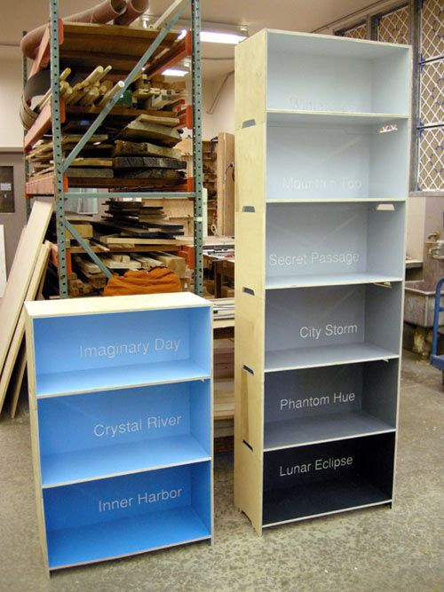 Paint Chip Bookcase Painting
