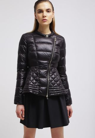 Geaca iarna eleganta neagra pentru femei