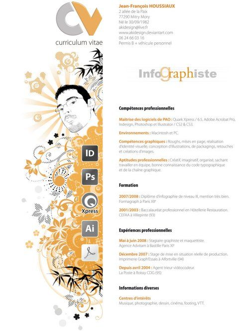 Curriculum - simple et graphique