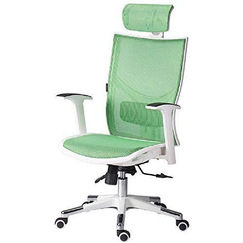 Mesh Ergonomic Office Chair Swivel Desk Chair With Adjustable Headrest Seat Height Tilt Tension And Lum Ergonomic Office Chair Swivel Chair Desk Leisure Chair