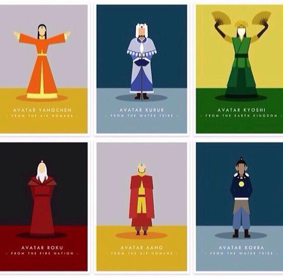 The Legend of Korra/Avatar the Last Airbender: avatars