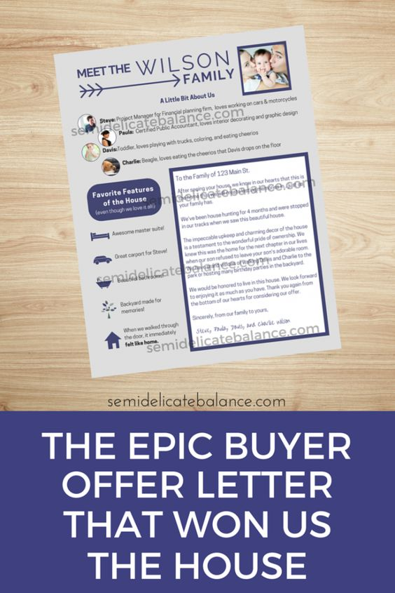 The Epic Buyer Offer Letter That Won Us The House Me gustas - offer letter