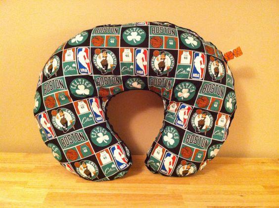 Baby Boston Celtics Basketball  Black Minky by SarahJoyceDesigns, $22.00