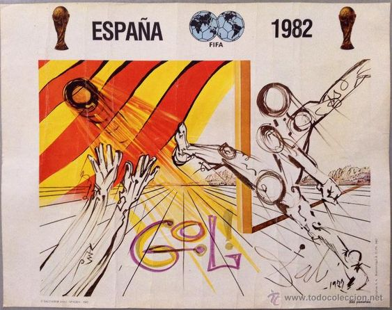 DALÍ CARTEL MUNDIAL FUTBOL ESPAÑA 1982 FIFA / Salvador Dalí en todocoleccion