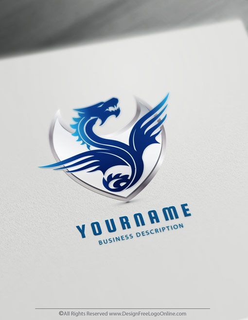 Dragon Logo Maker Dragon Symbol Online Logo Ideas Logo Maker Logo Diy Etsy Logo