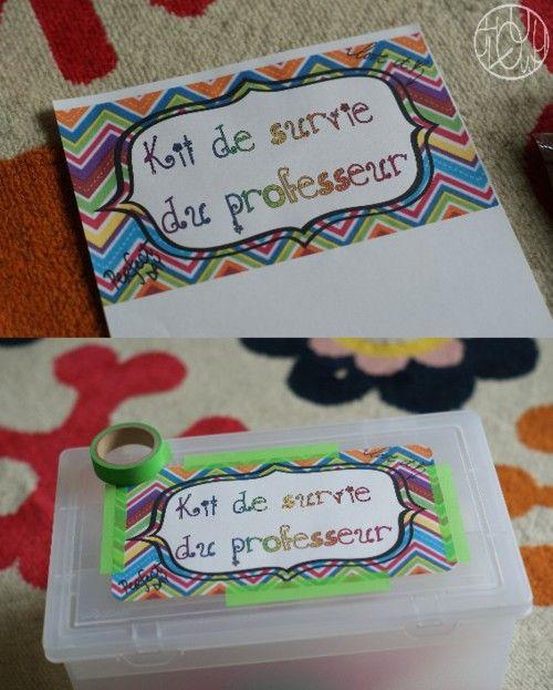 Kit de Survie du professeur
