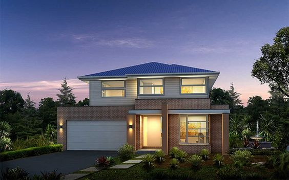 Metricon Home Designs: The Salamanca - Modern Facade. Visit www.localbuilders.com.au/builders_nsw.htm to find your ideal home design in New South Wales