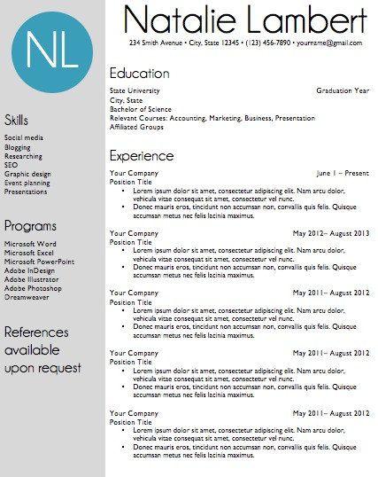 resume template word document download modern monogram modern resume and templates. Black Bedroom Furniture Sets. Home Design Ideas