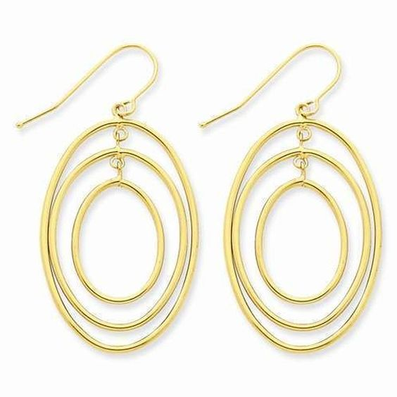 Accessorize your little black dress to perfection with this 14k 3 Ring Dangle Wire Earrings - $213.00 from IceCarats.com. Look good for 10% less with code INSTALOVE.  #icecarats #jewelry #fashion #accessories #jewelryjunky #latestfashion #trending #fashiontrends #affordablefashion #lookbook #fashionbloggers #bloggerstyle #bestseller #instaglam #instastyle #jewelrylover #streetstyle #jewelrytrends #dailyinspo #romantic #fashionkilla #fashionstory #hollywood #classy #jewelryaddiction…