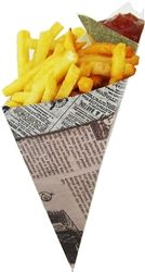Friteshop.com is you one stop shop for all your frites and fries related needs.  Take out Crepe Holders. We carry all types of frites and fries related products and supplies for commercial and home frites and fries production as well as the cooking enthusiast. paper cones, grease resistant paper, paper bags, food packaging, special packaging, unique packaging, catering tray, cone holders, crepe holders, Paper Inserts, and more.