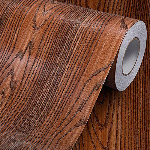 Wood Grain Contact Paper Self Adhesive Vinyl Shelf Liner Covering