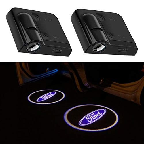 2pcs For Ford Car Door Logo Projector Lights Led Welcome Laser Door Lights Logo No Damage Wireless Type Projector Car Door Lights For Ford Fiesta Focus C Max Led Projector Lights Lighting Logo Ford