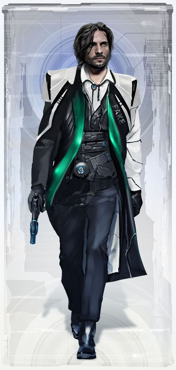 I see Carson similar to this, especially with Ebony gone. He'd have no reason to shave or really care about his appearance. The green would be red, and his eyes would have that unsettling artificial crimson to them.