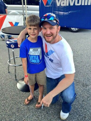 Dale Jr. loves his little fans...