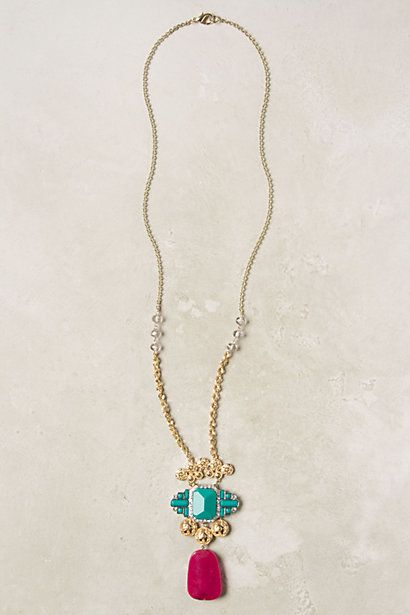 Wing Tile Necklace #anthropologie