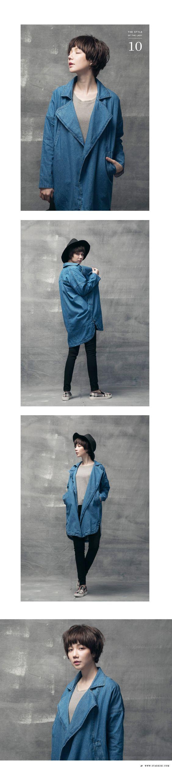 獨家設計質感水洗牛仔外套 / 1色 - STAR KIKI l Fashion & Perfect Style.