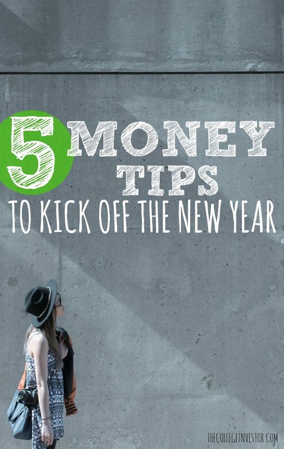 Ready to clean up your finances once and for all? Here are five solid New Years money tips to get you started! via /collegeinvestor/