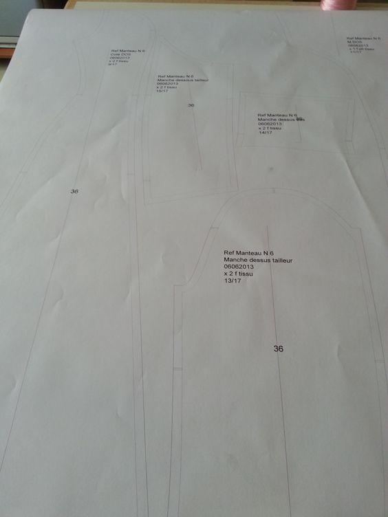 Les pièces du #patron de la #robe #cocktail sont imprimé par le #Traceur. La  construction du modèle est faite par logiciel #Polypattern #CAO : #conception assisté par ordinateur. #CAD