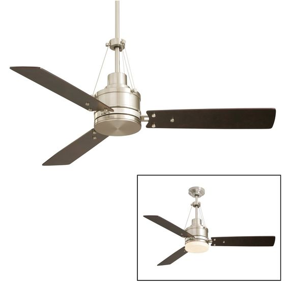 FOR BAR SIDE:Emerson Electric CF205BS 2 Light 54in. Highpointe Ceiling Fan