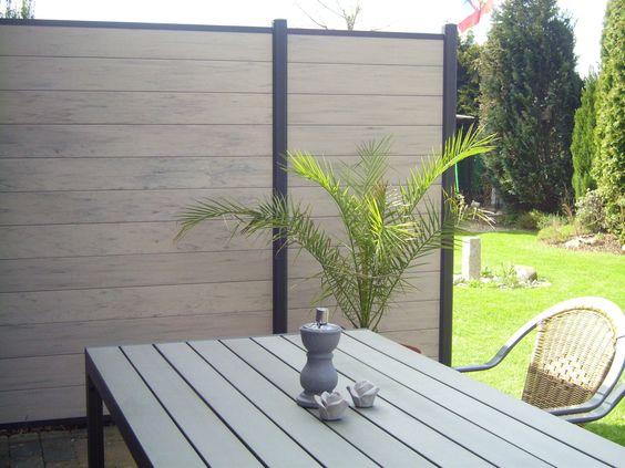 7,2 Lfm WPC Sichtschutzzaun, 180 x 180 cm Gartenzaun Windschutz - gartenzaun metall anthrazit