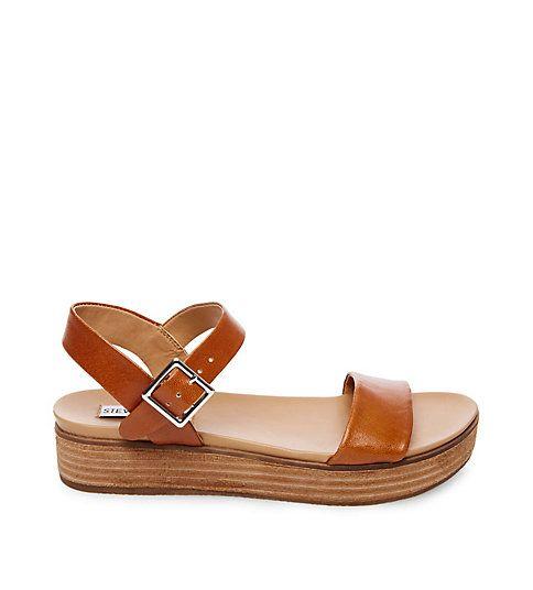 AIDA COGNAC LEATHER | Leather sandals