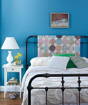 Allow Accents to Assume Different Roles  Add character to a plain bed by draping a colorful quilt over its frame  by day.  At night, pull it on for extra warmth.