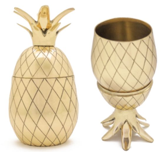 Gold Pineapple Tumbler