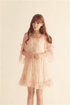 TIFFANY STYLE PINK KOREAN DRESS