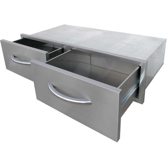 BBQ Built-In Horizontal Bins