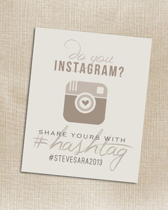 Instagram Wedding Hashtag: Wedding Instagram Beige