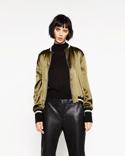 Image 6 of EMBROIDERED REVERSIBLE BOMBER JACKET from Zara