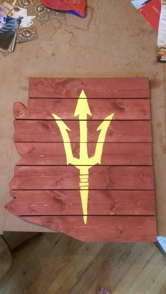 Arizona state University custom design by NorthWestWoodShop