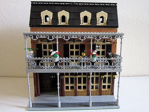 Lego New Orleans Hotel - Front 1   Elizabeth Nevermind   Flickr