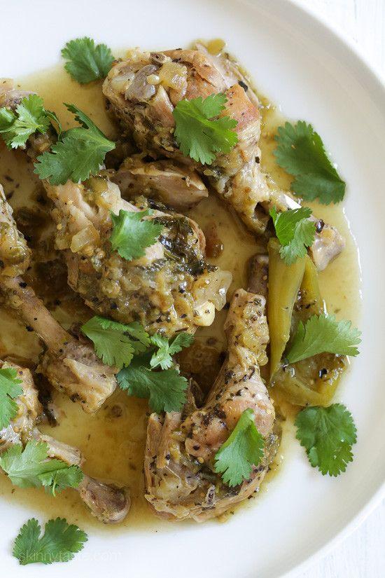 Tomatillo sauce, Chicken drumsticks and Braised chicken on Pinterest