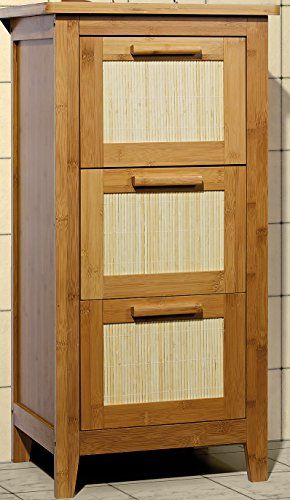 Unterschrank Badezimmermöbel Massivholz Badezimmer-Schrank mit 3 - badezimmer bambus