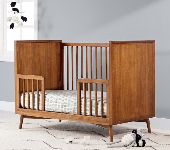 West Elm X Pbk Mid Century Crib Lullaby Supreme Crib Mattress Pebble In Home Delivery Mid Century Nursery Convertible Crib Cribs