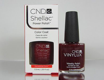 2 Items - SHELLAC CND - DECADENCE .25oz & VINYLUX #111 POLISH .5oz Brand New