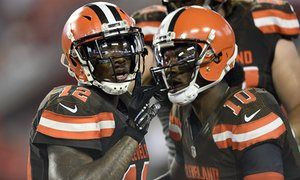 Josh Gordon (12) and Robert Griffin III have plenty of upside for the Browns this season