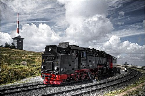 Brockenbahn Bilder: Poster von PhotoArt Hartmann bei Posterlounge.de