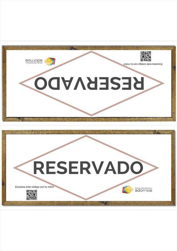Cartel de reservado para imprimir col calo en las mesas for Mesas para restaurante