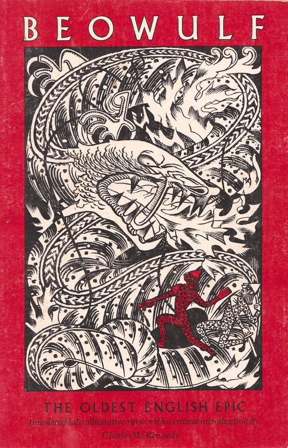 Beowulf - cover designed by David Laufer, 1978 Infinitely better than the cover on our school copies.