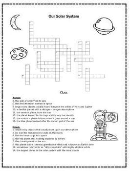 solar system crossword answers - photo #46