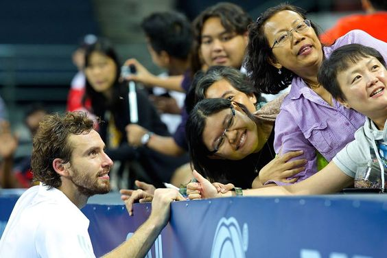 "Jess Stein on Twitter: ""#tbt so he wasn't too nervous when he saw a lot of fan loving him. #gulbis. http://t.co/a5xermqj9x"""